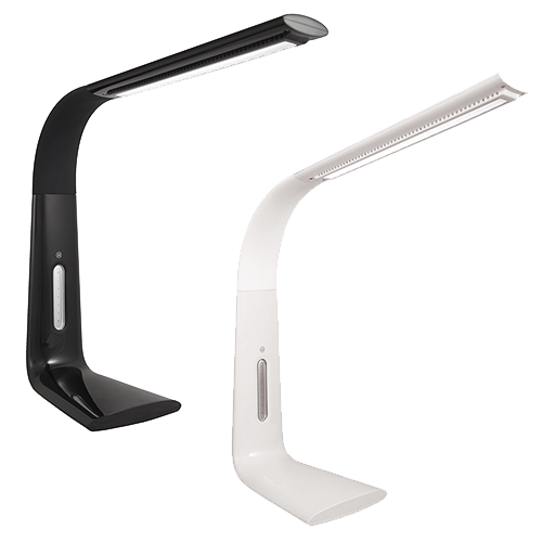LED Variable Lighted Desk Lamp - MODEL: LVARL1W/LVARL9BK
