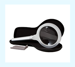 LED Lighted Handheld Magnifier - MODEL: MAG12